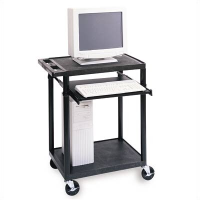 Luxor Workstation with One  Adjustable Pull-Out Shelf