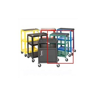 Luxor Adjustable Height Open Shelf AV Cart