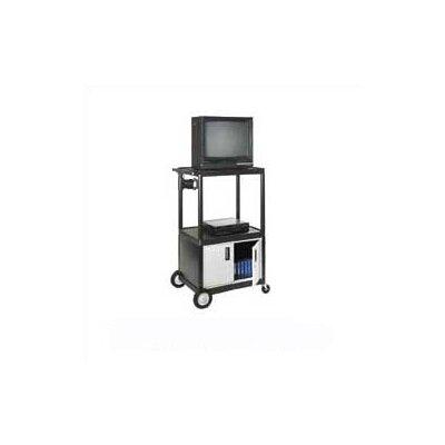 Luxor Open Shelf Endura Video Cart with Locking Cabinet
