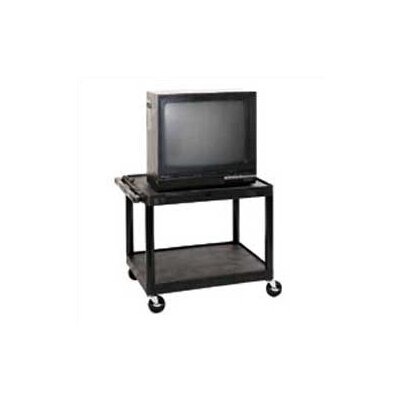 Luxor LP Series Open Shelf TV Cart