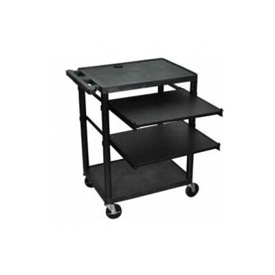 Luxor Workstation with Two Adjustable Pull-Out Shelves