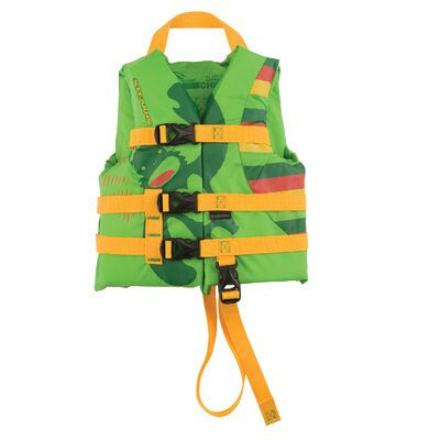 PFD 5972 Child Antimicrobial Boy Life Jacket in Green