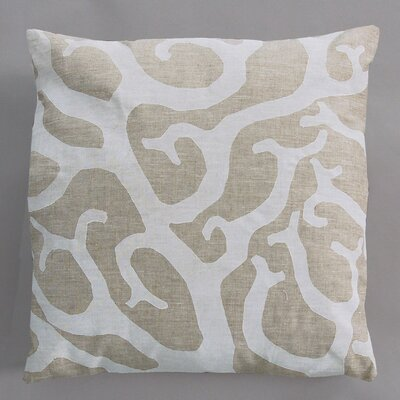 Dermond Peterson Coral White Pillow on Natural Linen