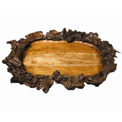 Groovystuff Back to the Roots Ellipse Drifter Root Serving Tray