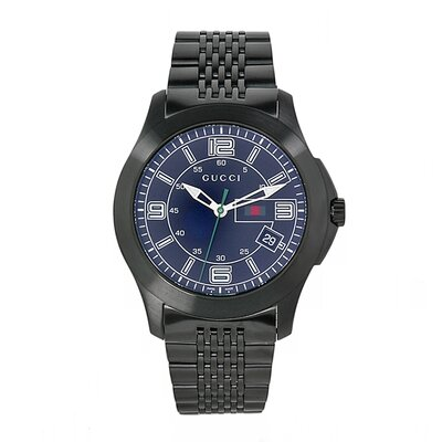 Men's Timeless Watch with Black Dial and Stainless Steel Bracelet