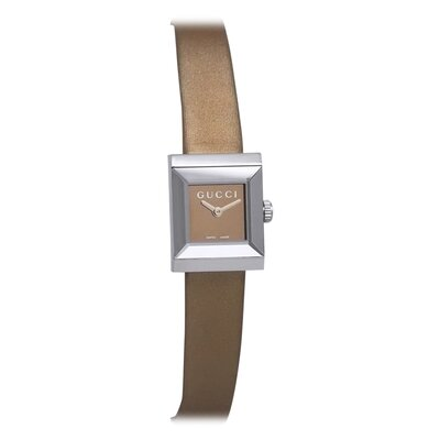 Gucci Women's G Frame Watch with Bronze Dial