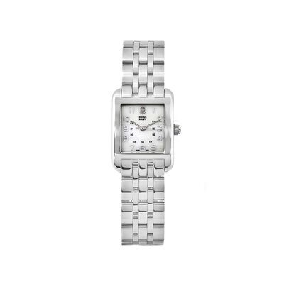 Swiss Army Women's Alliance Stainless Steel Bracelet Watch with Mother of Pearl Dial