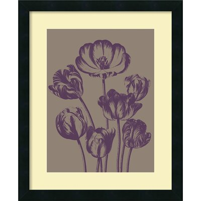 'Tulip 14' by Botanical Series Framed Painting Print