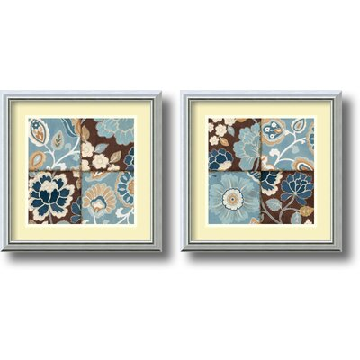 Patchwork Motif 2 Piece Framed Print Set By Alain Pelletier