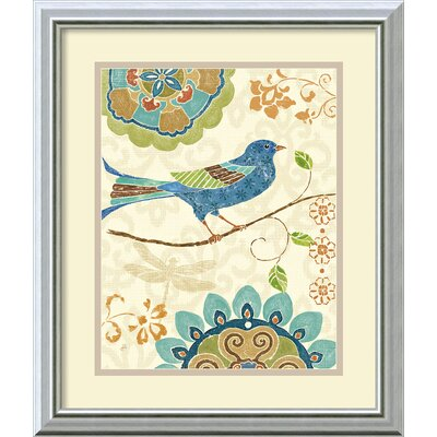 Eastern Tales Birds I Framed Print by Daphne Brissonnet