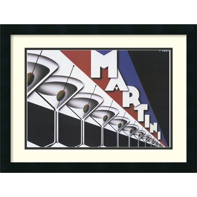 'Martini' by Steve Forney Framed Graphic Art