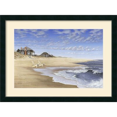 'Hampton Beach' by Daniel Pollera Framed Painting Print