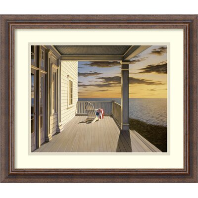 'Last Light' by Daniel Pollera Framed Painting Print