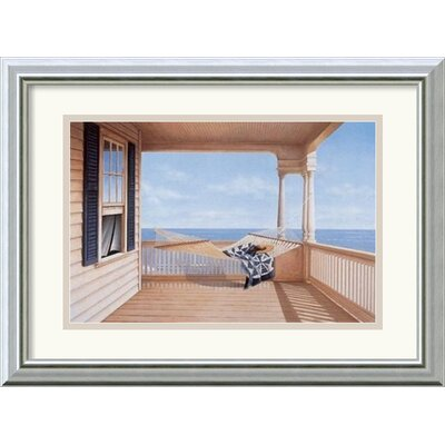 'A Summer Place' by Daniel Pollera Framed Painting Print