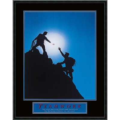 "Amanti Art Teamwork - Climbers Framed Print Art - 29.02"" x 23.02"""