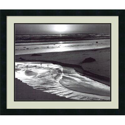 "Amanti Art Birds on a Beach, Evening, 1966 by Ansel Adams, Framed Print Art - 22.19"" x 26.19"""