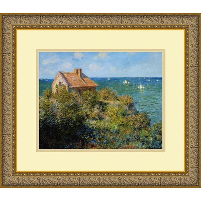 "Amanti Art Fishermans Cottage on the Cliffs at Varengeville by Claude Monet, Framed Print Art - 14.06"" x 16.12"""