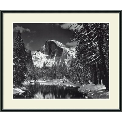Half Dome, Winter - Yosemite National Park, 1938 by Ansel Adams, Framed Print Art - ...