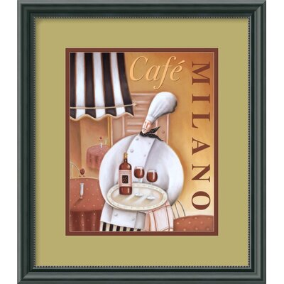 "Amanti Art Cafe Milano by Jo Parry, Framed Print Art - 15.39"" x 13.46"""