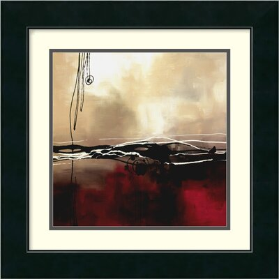 Symphony in Red and Khaki I by Laurie Maitland, Framed Print Art - 17.49