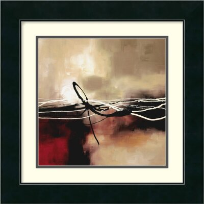"Amanti Art Symphony in Red and Khaki II by Laurie Maitland, Framed Print Art - 17.49"" x 17.49"""