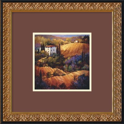 "Amanti Art Evening Glow Tuscany by Nancy O'Toole, Framed Print Art - 18.17"" x 18.23"""