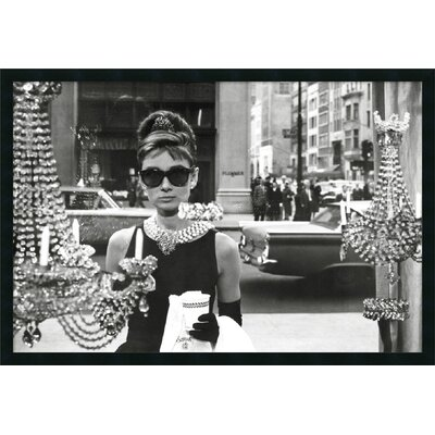 "Amanti Art Audrey Hepburn - Breakfast at Tiffany's (Window) Framed Print Art - 25.66"" x 37.66"""