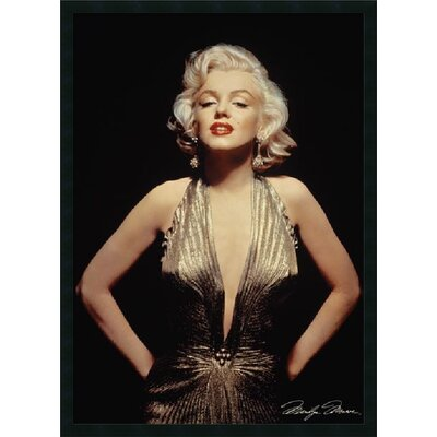 "Amanti Art Marilyn Monroe (Gold) Framed Print Art - 37.66"" x 25.66"""