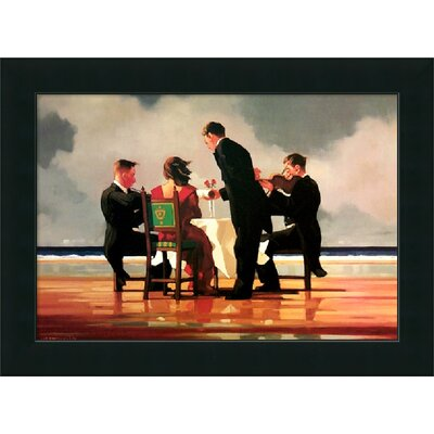 "Amanti Art Elegy for the Dead Admiral by Jack Vettriano, Framed Canvas Art - 24.08"" x 33.08"""