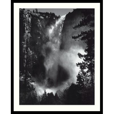 'Bridal Veil Falls' by Ansel Adams Framed Photographic Print