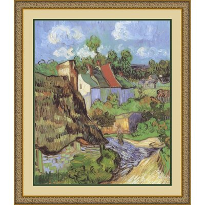 "Amanti Art Houses at Auvers, 1890 by Vincent Van Gogh, Framed Print Art - 30.06"" x 26.12"""