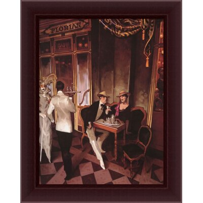 Cafe Florian by Juarez Machado, Framed Canvas Art - 29.57