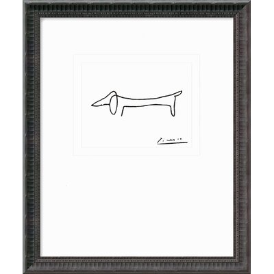 "Amanti Art Le Chien (The Dog) by Pablo Picasso, Framed Print Art - 21.56"" x 17.93"""