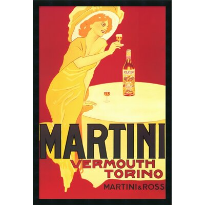 Martini - Vermouth Torino Framed Vintage Advertisement