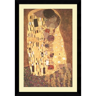 "Amanti Art The Kiss (Le Baiser / Il Baccio), 1907 by Gustav Klimt, Framed Print Art - 38.49"" x 26.62"""