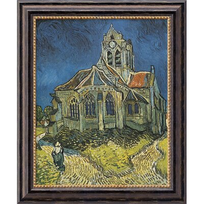 Church at Auvers by Vincent Van Gogh, Framed Canvas Art - 23.97