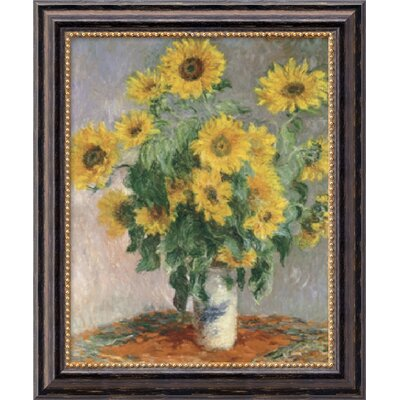 "Amanti Art Sunflowers, 1881 by Claude Monet, Framed Canvas Art - 23.97"" x 19.97"""
