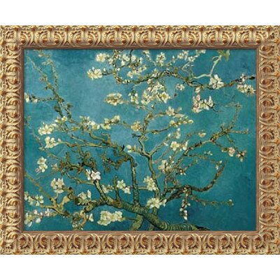Almond Blossom, 1890 by Vincent Van Gogh, Framed Canvas Art - 19.5