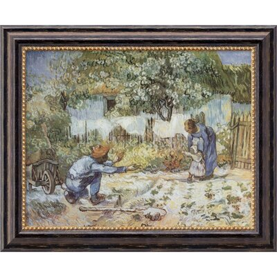 "Amanti Art First Steps by Vincent Van Gogh, Framed Canvas Art - 19.97"" x 23.97"""