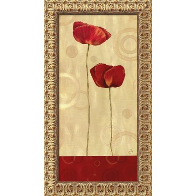 "Amanti Art Pop Art Poppies I by Daphne Brissonnet, Framed Canvas Art - 27.5"" x 15.5"""