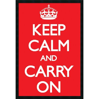 "Amanti Art Keep Calm (Red) by Vintage Repro, Framed Print Art - 37.66"" x 25.66"""