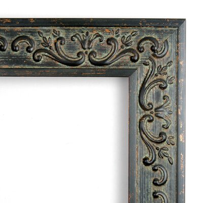 Green Provencal Scroll Large Mirror in Antique Dark Bronze Rococo