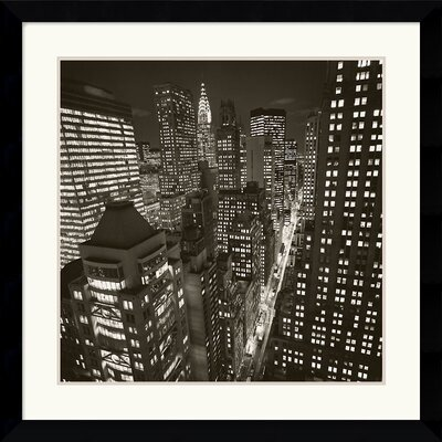 Amanti Art East 40Th Street, NY 2006 Framed Art Print by Michael Kenna