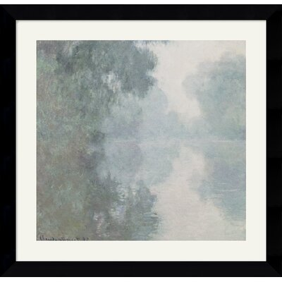 Amanti Art The Seine at Giverny, Morning Mists, 1897 Framed Art Print by Claude Monet