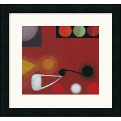Small Red Seed No. 10 Framed Art Print by Bill Mead