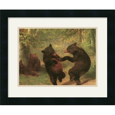 Dancing Bears Framed Art Print by William Beard