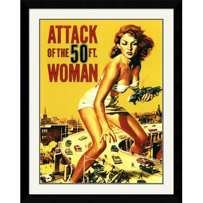 Amanti Art Attack of The 50' Woman Framed Art Print