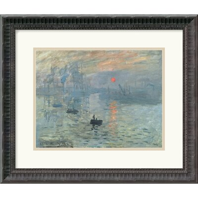 "Amanti Art Impressions at Sunrise, 1873 by Claude Monet Framed Fine Art Print - 15.18"" x 17.68"""