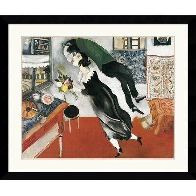 "Amanti Art Birthday by Marc Chagall Framed Fine Art Print - 32.37"" x 38.62"""