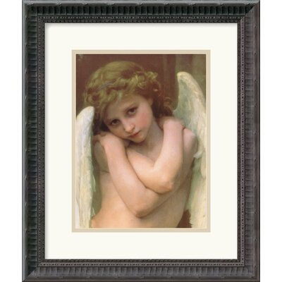 "Amanti Art Cupidon by William Adolphe Bouguereau Framed Art Print - 16.81"" x 14.06"